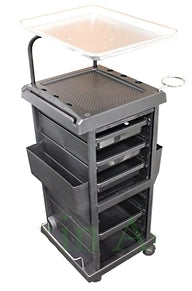Brand New Lockable Trolley with Extra Aluminum Top Tray