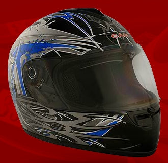 Adult 07 Black Full Face Motorcycle Helmet (DOT Approved)