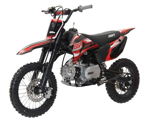 125cc Dirt Bike 4 Speed Manual Kick Start Pit Bike - SR125TR-BW