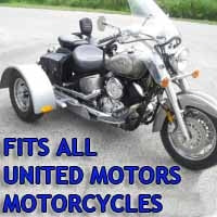 United Motors Motorcycle Trike Kit - Fits All Models