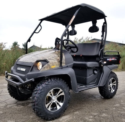 Brand New Gas Golf Cart Hunting UTV Hybrid Linhai Big Horn 200 VX Side by Side UTV - Hunters Edition with Gun Rack