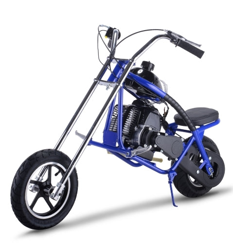 50cc Mini Chopper Gas 2 Stroke Bagger Half Size Motorcycle