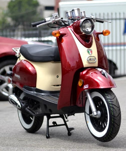 Znen 50cc Gas Moped Scooter With Alarm & Remote Start - Snail-50-California-Pickup