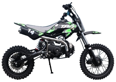 110cc Dirt Bike DB-14 Semi-Automatic Mid Size Pit Dirt Bike Motorcycle - 29 Inch Seat Height