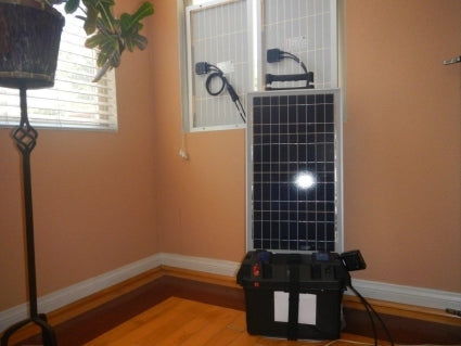 Solar Powered Generator 12v 80 Watts 55 Amp Hours Solar Power Generator