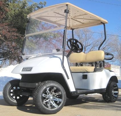 Pearl White Custom Ez-Go 36V Electric Golf Cart