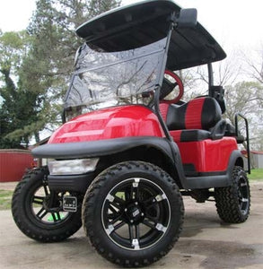 48V Red Club Car Precedent Lifted Electric Golf Cart
