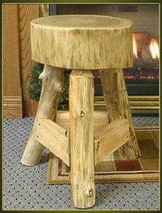 Brand New Rustic Furniture Suncracked Tripod End Table with Lumber Supports