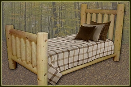 Brand New GoodTimber Rustic Furniture Ranch Valley Log Bed