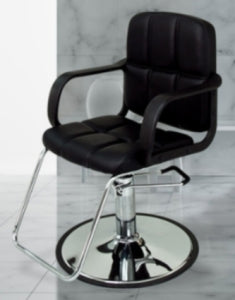Black Leather Modern Hydraulic Barber Chair