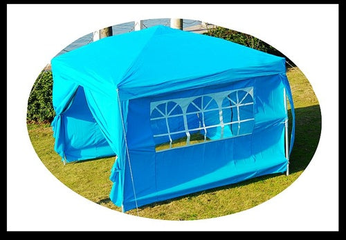10x10 Blue Easy Set Pop Up Party Tent Canopy Gazebo