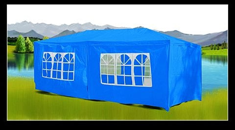 10 x 20 Blue Gazebo Party Tent Canopy