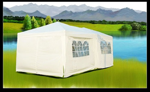 10x20 White Easy Set Pop Up Party Tent Canopy Gazebo