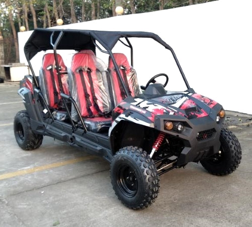 300cc 4 Seater UTV Golf Cart Gas Adult Size Utility Vehicle TrailMaster Challenger