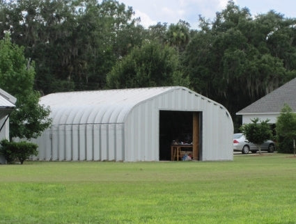 30' x 30' x 15' Steel Frame Residential Garage Storage Workshop Building