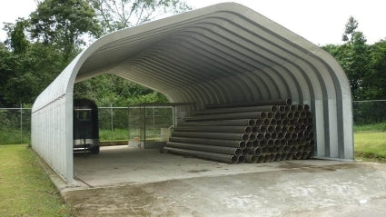 20' x 20' x 12' Pitched Roof Motorcycle ATV Carport Cover Building