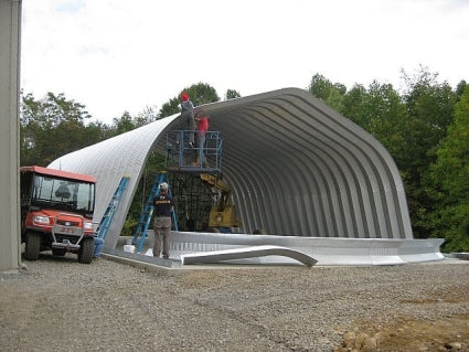 25' x 30' x 12' Steel Frame Gambrel Arch Equipment Storage Building