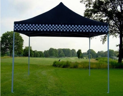 10' x 10' Pop Up Black Checkered Party Tent