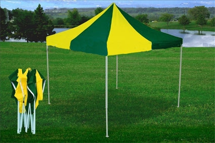 10' x 10' Pop Up Green & Yellow Party Tent