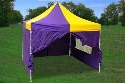 10' x 10' Pop Up Purple & Yellow Party Tent