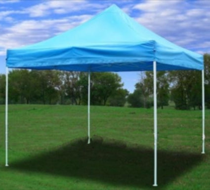 10' x 10' Pop Up Sky Blue Party Tent