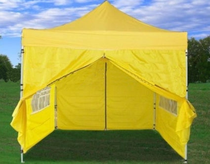 10' x 10' Pop Up Yellow Party Tent