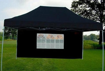 10' x 15' Black Easy Pop Up Party Tent