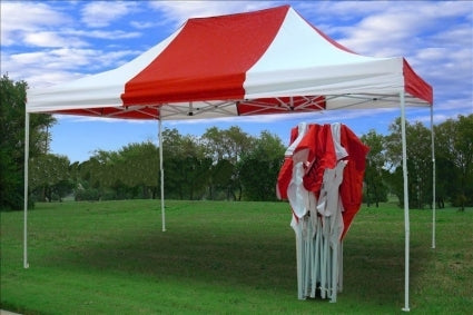 Heavy Duty 10' x 15' Red & White Pop Up Party Tent