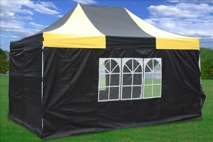 Heavy Duty 10' x 15' Yellow & Black Pop Up Party Tent