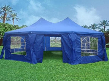 Blue 29' x 21' Octagonal Wedding  Party Gazebo Tent Canopy
