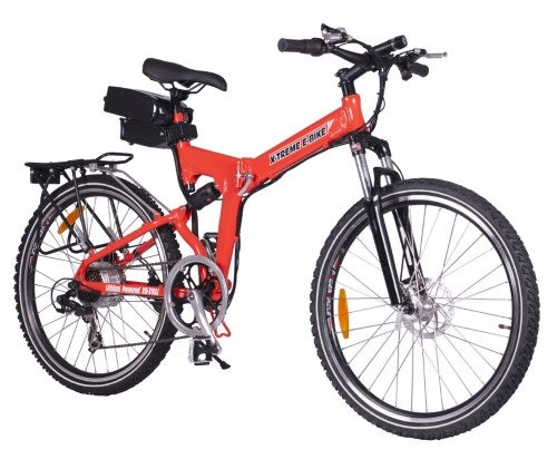 X-Cursion Elite Folding Electric Mountain Bicycle - Lithium Powered Bike - X-CURSION-E