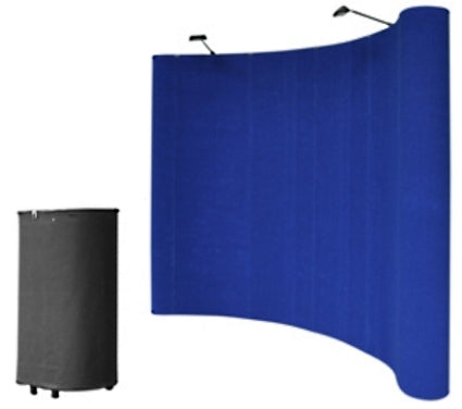 Professional 10' Blue Portable Pop Up Trade Show Booth Display Kit w/ Spotlights