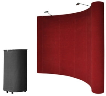 Professional 10' Red Portable Pop Up Trade Show Booth Display Kit w/ Spotlights