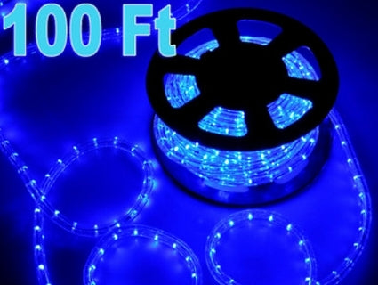 100' Blue Indoor/Outdoor LED Rope Light 110V