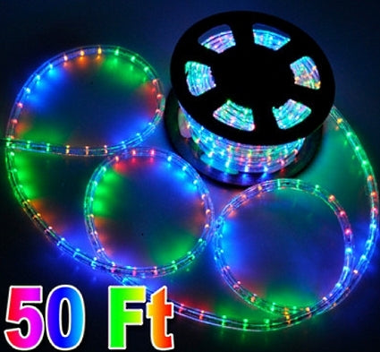 50' RGB 2 Wire LED Decorative Rope Light
