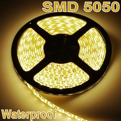 Brand New 5M Warm White Flexible Waterproof 5050 SMD 300LED 12V LED Strip Light