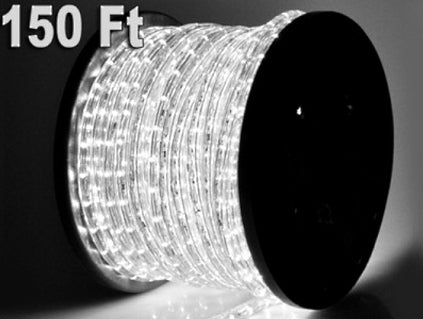 150' Cool White LED Rope Light 110V 1/2