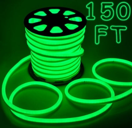 150' Green Led Outdoor/Indoor Flexible Neon Rope Light