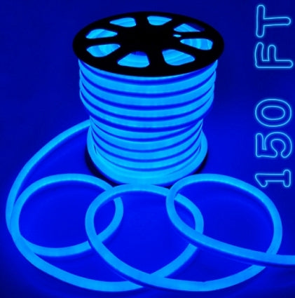 150' Blue Led Outdoor/Indoor Flexible Neon Rope Light