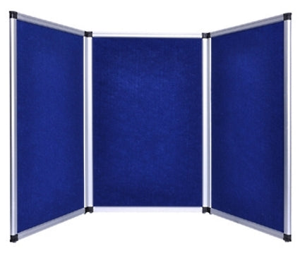 Professional 6ft Blue Tabletop Folding 3 Panel Trade Show Booth