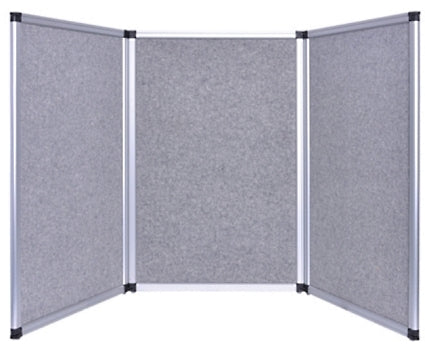 Professional 6ft Gray Tabletop Folding 3 Panel Trade Show Booth