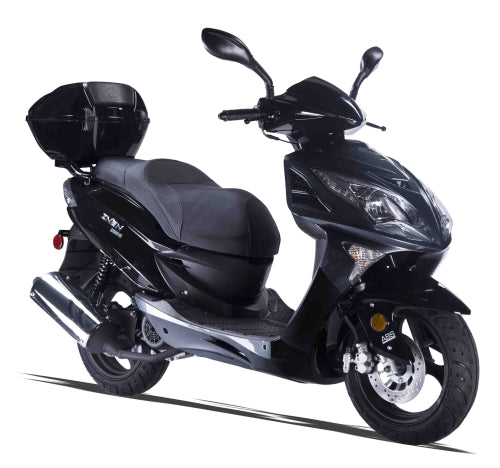 Znen 150cc 4 Stroke 8.5hp Gas Moped Scooter With USB Adapter & Alarm - ZN150-7H-California-Pickup