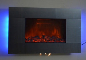 "36"" Wall Mounted Electric Fireplace Heater Romantic Blacklight 5200BTUs 510GLB"