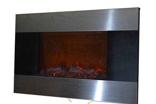 Brand new Stainless Panel Electric Fireplace