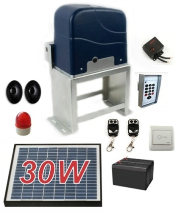Solar Full Kit Sliding Gate Opener For Sliding Gates Up to 60-Feet Long and 2200-Pounds