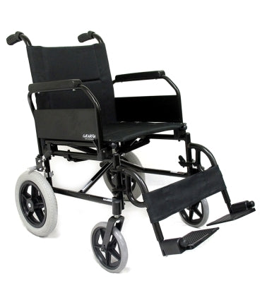 Brand New High Quality Karman KM-2020 � 24 lbs Flip Back Arm Transport Wheelchair