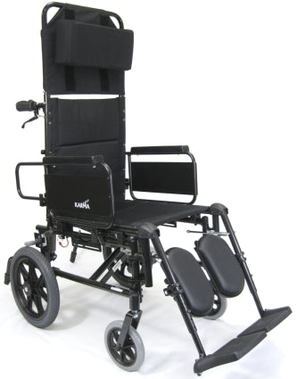 New Wheelchair High Quality Karman KM5000 Lightweight Reclining Transport Wheelchair with Removable Desk Armrest
