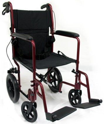 Brand New High Quality Karman LT-1000 Transport Wheelchair with Loop Brakes and 12.5