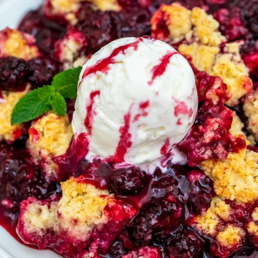Seedless Balckberry Cobbler