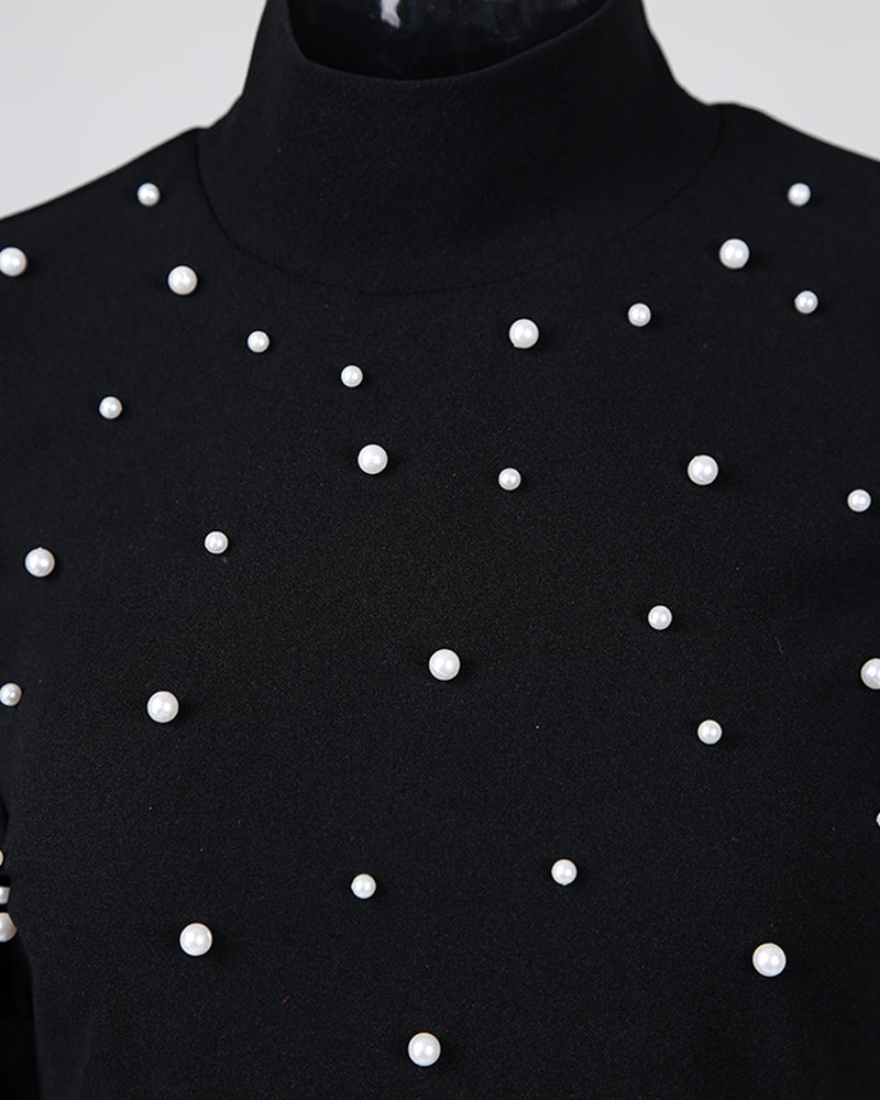 Studded Puff Sleeve Top